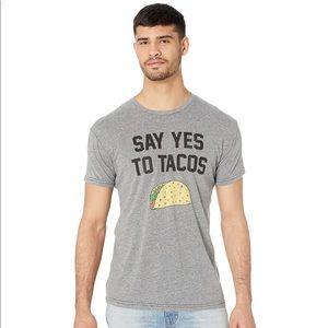 Original Retro Brand Shirts - Gray Say Yes To Tacos Retro Brand Tee-Sm